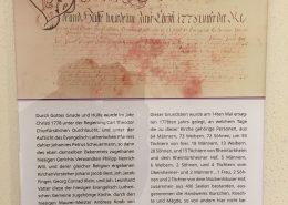 Bild der Urkunde Martinskirche Osthofen
